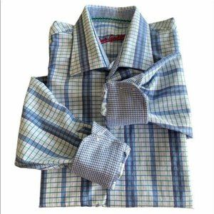 Boys Robert Graham Shirt Graph Stripe Plaid 10/12